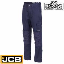 "Size 34"" W REG Leg JCB Work Wear Essential Cargo Combat Trousers Pants Navy Blue"