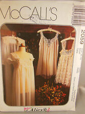 1999 McCall's Misses' Lingerie Pattern 2059 Size 8,10 Alicyn exclusives Uncut