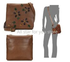 Patricia Nash CrossBody Bag Leather Granada Dip Dye Applique Tan Bag