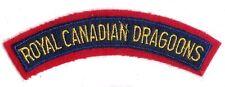 Canadian Army Royal Canadian Dragoons Battle Dress Shoulder Flash