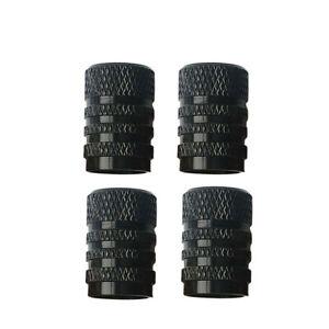 Black Aluminium Car Wheel Tyre Valve Stems Air Dust Cover Screw Cap Accessories