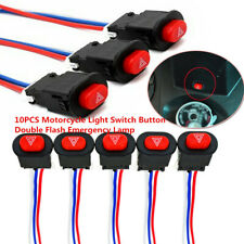 10PCS Motorcycle Light Switch Button Double Warn Emergency Lamp Flasher Switch