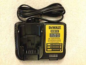 New Dewalt DCB112 12V & 20V Max Li-ion Battery Charger replaces DCB100 & DCB107