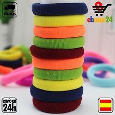 10 Gomas de Colores del Pelo Goma Elasticas Coleta  *Envío GRATIS desde España*