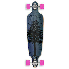 Yocaher Drop Through Longboard Complete - In the Pines : Blue