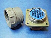 Amphenol 10-72114-2P Circular 4 Pin Connector 14S Cable Mount Plug Olive Drab