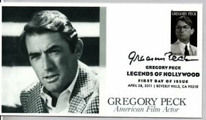 #4526 ACTOR GREGORY PECK LEGENDS OF HOLLYWOOD STAMP FIRST DAY OF ISSUE