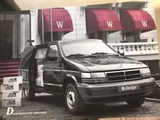AUTOMOBILE BROCHURE - 1989 Dodge Mini Ram Van-Pays-Bas