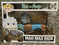 PREOWNED FUNKO POP! RIDES RICK AND MORTY #37 MAD MAX RICK VINYL FIGURE NOT MINT