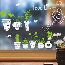 Glass Windows Decor 3D Plants Balcony Wall Stickers Art Vinyl Decals Removable