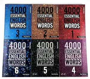 4000 Essential English Words Vocabulary Book 1 to 6 Beginner to Advanced Levels