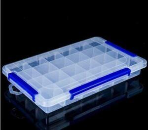 24 Grids Nail Art Decoration Gem Rhinestone Diamond Container Storage Box
