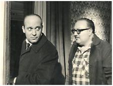 Italia, RAI - Turi Ferro e regista Landi  Vintage silver print Tirage argentiq