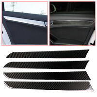 Carbon Fiber Side Door Trim Cover Fit For Audi A4 B8 2009-2016