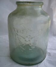 VTG Bishops Eagle Mason Jar Hand Blown Masonic Freemason Bear Pig Clear Rustic