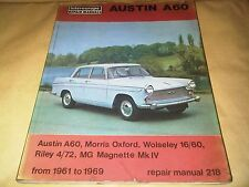 Austin A60 Morris Oxford MG Magnette Riley 4/72 Owners Repair Workshop Manual