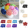 36 Colourfast Foam Roses Artificial Fake Flower Bouquet Wedding Decor 6/8cm UK
