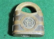 Vintage YALE & TOWNE BRASS PADLOCK ** PATENTED 1876-1878 ** NO KEY**