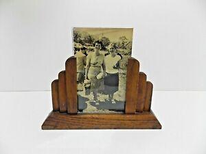 vintage art deco c1930s 40s oak photo frame solid wood picture frame