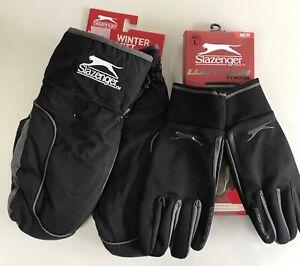 Slazenger Golf pair of Winter gloves & mittens combo NEW  BLACK cold jl