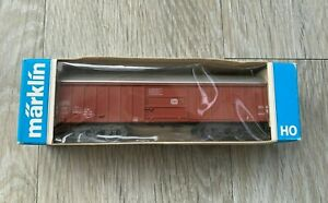 MARKLIN 4460 HO GAUGE SWINGING ROOF WAGON DB 585 4 669-4 - BOXED