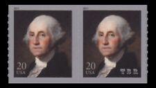 4512 George Washington 20c Attached Coil Pair Gilbert Stuart 2011 MNH - Buy Now