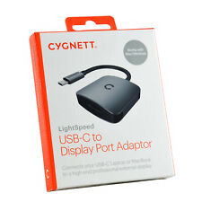 Genuine Cygnett USB-C to Display Port 4K 60hz MacBook PC video output Adapter