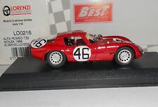 Alfa Romeo TZ2 Monza 1966 Bussinello Geki 1/43 Best Lorenzi Mint in Box LO216