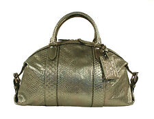 Ralph Lauren Purple Label Metallic Python Boston Bag Satchel New $3950
