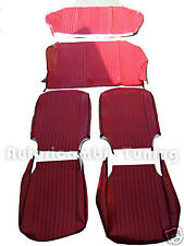 KIT FODERE COMPLETE IN SIMILPELLE ROSSA FIAT 500 L