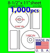 1,000 Memorex Compatible CD/DVD Labels, Matte White Laser InkJet