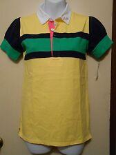 American Living Girls Short Sleeve Polo Shirt Yellow M/8-10 NWT