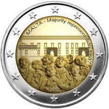 MALTE 2 Euros 1887 Majorité au Conseil 2012 UNC