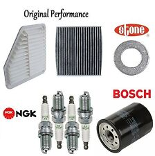 Tune Up KIT Cabin Air Oil Filters Spark Plugs for Toyota RAV4 L4; 2.4L 2006-2007