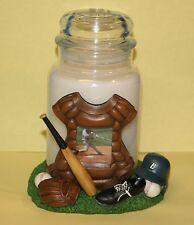 Yankee Candle BASEBALL GEAR Large 22 oz CANDLE HOLDER Photo Frame Fathers Day