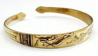 Vintage Chinese Dragon brass bracelet.