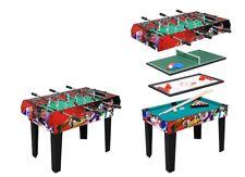 Tavolo Multigioco 4 Giochi in 1 Aste Rientranti con Accessori cm 91x50x75