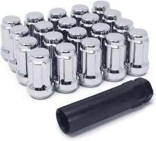 12x1.50 Lug Nuts 6 Spline 20pcs + Lock Key fits Toyota, Honda, Lexus, etc 35mm
