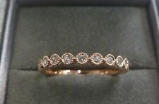 9ct Rose Gold Diamond Slim Eternity Ring - Size N - 0.20ct