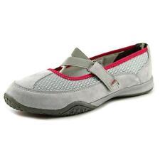 Zapatos planos de mujer de color principal gris de ante Talla 39