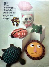GREAT VTG 1960s STUFFED ANIMALS AND PAJAMA BAGS SEWING PATTERN