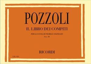 Pozzoli - IL LIBRO DEI COMPITI - Fasc. III - Ed. Ricordi