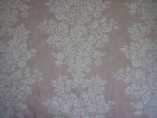 "SANDERSON CURTAIN FABRIC  ""Freya"" 5.4 METRES  OYSTER PINK & CREAM 100% COTTON"