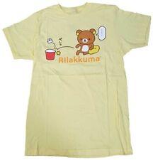 NEW Official License Rilakkuma Adult Mens T-Shirt - Yellow RKSS160014 US Seller