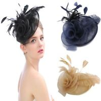 Women Cocktail Wedding Hats Hairpin Fascinator Lady Party Headpieces Wrap Gift