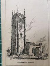 1848 Print; Bishops Lydeard Church view, plan & description,  Somerset