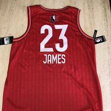2020 NBA All Star Game Jersey. Lebron James. Red. XL.