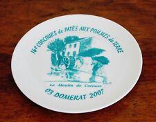 Domérat, assiette concours de patés 2007, la moulin de Crevant