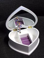 Beautiful Ballet Dance Heart Wooden Music Jewellery Box Ballerina M04L Lilac 0.5