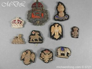 Officer's embroidery cap badges